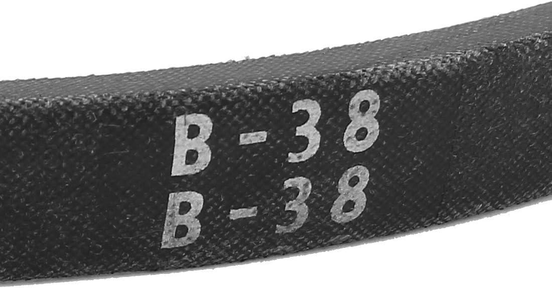 uxcell/® Industrial Power Drive Transmission B38 V Belt 5//8 x 39 Black