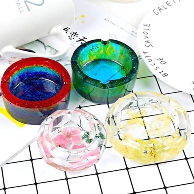 3D Fait /à La Main en Moulage de R/ésine Moule Bricolage Artisanat Motif de T/ête de Mort Facile /à Lib/érer Moule /à Cendrier en Silicone