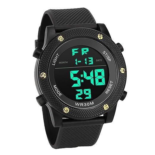 VEHOME Hombres de Lujo analógico Digital ejército Militar Deporte LED Impermeable Reloj de Pulsera-Relojes Inteligentes relojero Reloj reloje hombresRelojes ...