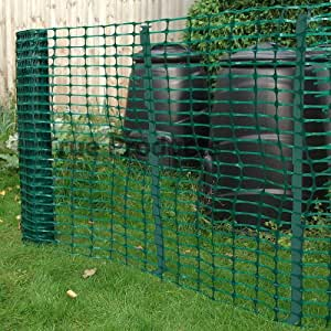 *FREE DELIVERY* Green Barrier Mesh Temporary Fencing Kit Heavy with 20 Green Plastic Pins by True Products