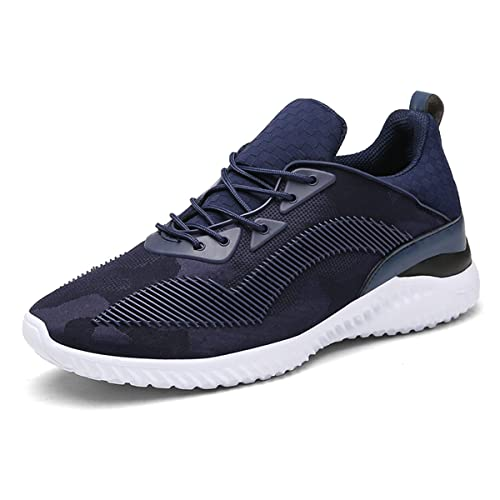 070d622570 Meurry Sportschuhe Herren Ultra Leichte Laufschuhe Sneakers Atmungsaktiv  Gym Turnschuhe Schnürer Trainer Outdoor Shoes Blau 41EU