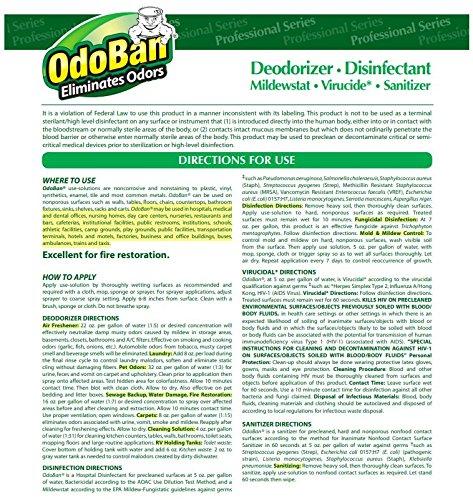OdoBan 911062G4 Concentrated Odor Eliminator, Eucalyptus, 1gal Bottle (Case of 4) by OdoBan (Image #4)