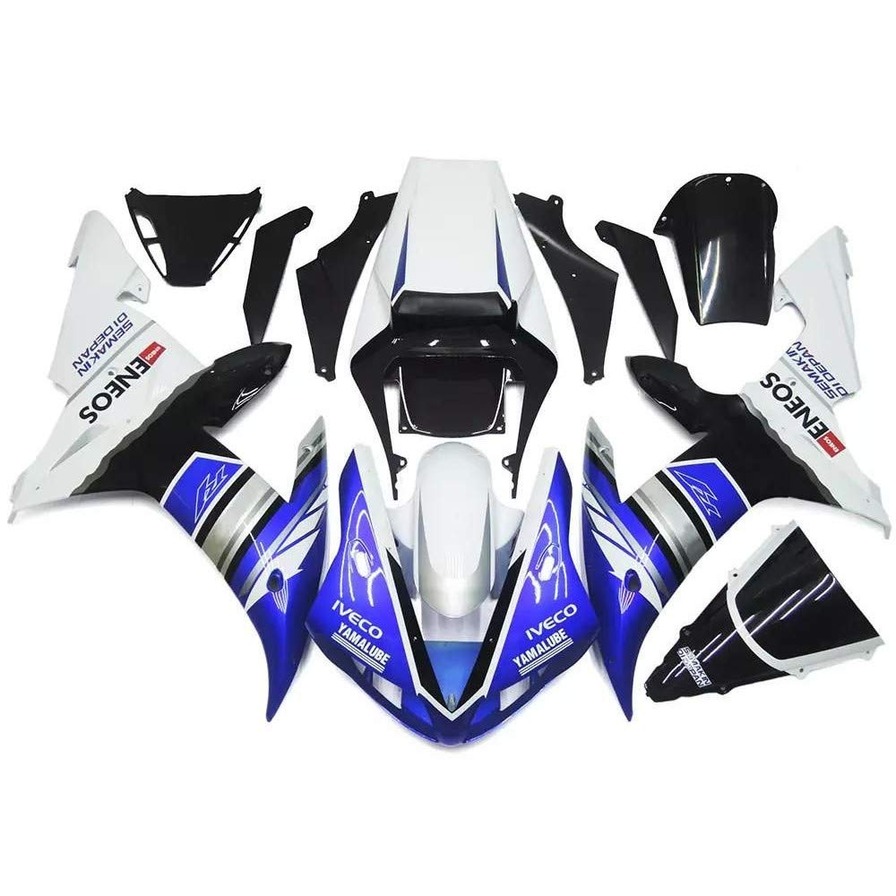 NT FAIRING Silver Black Injection Mold Fairing Fit for Yamaha 2002 2003 YZF R1 R1000 YZF-R1 Painted Kit ABS Plastic Motorcycle Bodywork Bodyframe Aftermarket 02 03 02R1