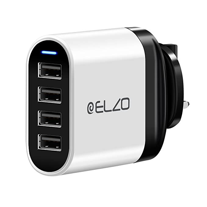 UK USB Mains Wall Fast Charger 4.8A for iPhone Samsung etc. LG