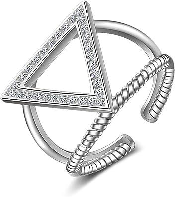 Cristal Argent Sterling 925 Bague Croix Forme Pour Femmes Bijoux Taille 6