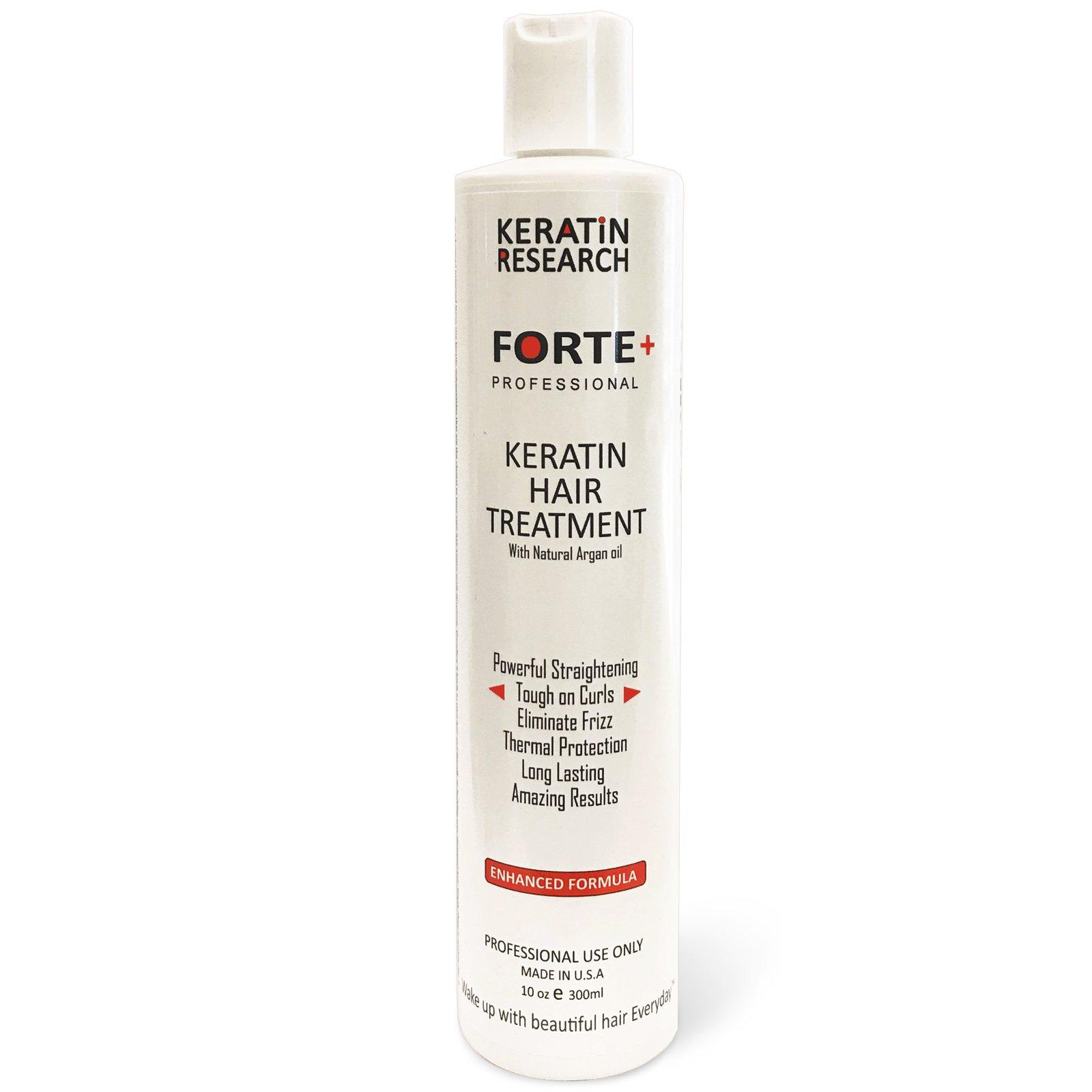 Keratin Forte Keratin Brazilian Keratin Hair Blowout Treatment Extra Strength 300ml Enhanced Formula for Curly Hair By Keratin Research Queratina Keratina Brasilera Forte