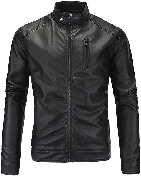 R Mens PU Leather Slim Motorcycle Jacket MR