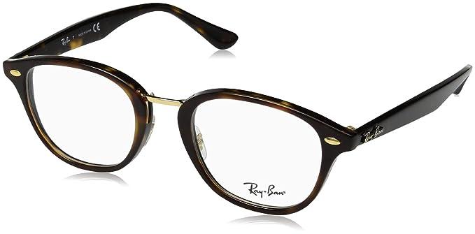 5638bf0245fbf Amazon.com  Ray-Ban Unisex RX5355 Eyeglasses Top Brown Havana Havana ...