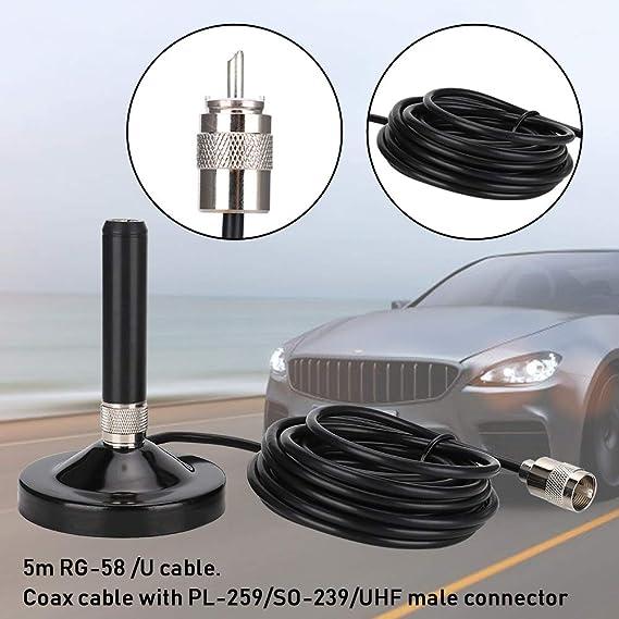 Antenne Radio Voiture Double Bande 144//430 MHz UHF//VHF avec c/âble de Module pour YAESU FT-1802M FT-1807 FT-7900R pour Kenwood TM-271 TM-471 pour ICOM IC-2200H IC-2720H pour BaoFeng pour WouXun pour