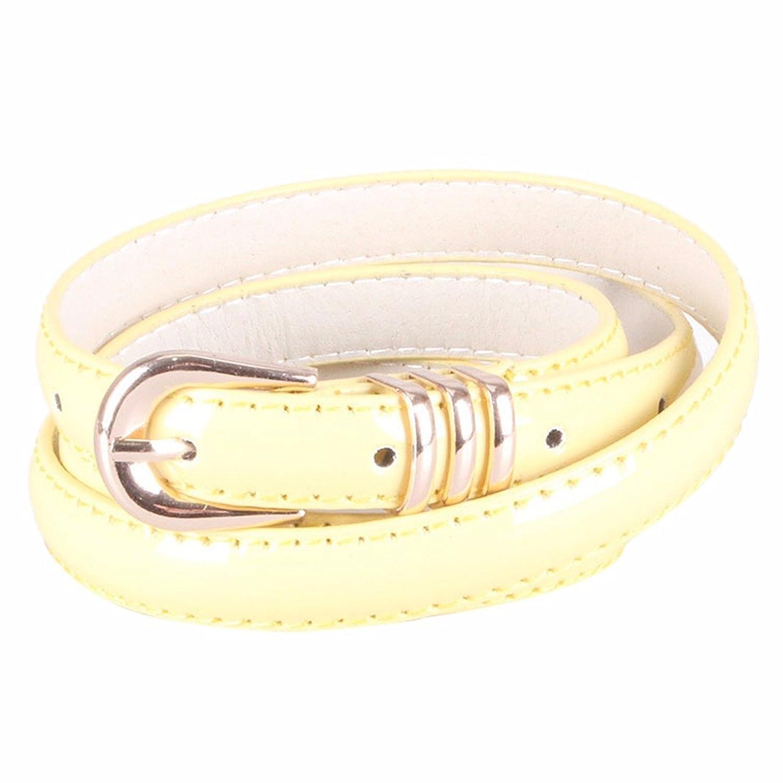 Charming Thin Waistband Belt Alloy Buckle New Girl Simulation Leather Belt