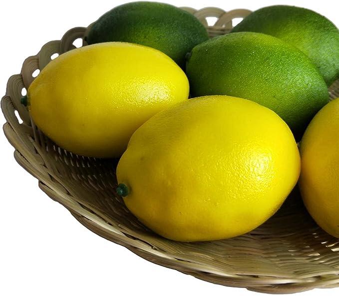 Zhi Jin 10/pcs Simulation Artificielle Citron Faux Fruits Plastique Vert Citron Grande pour la Photographie Props Table D/écor Vert