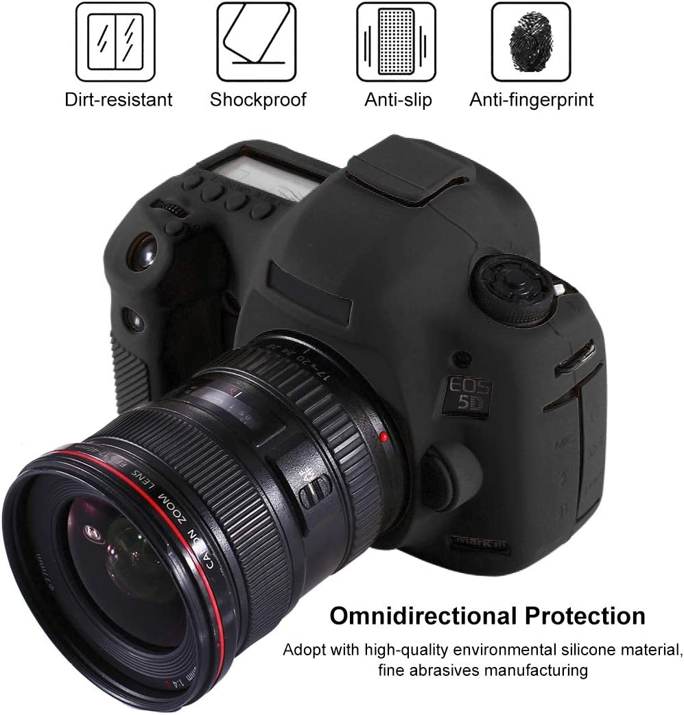 5D3 Camouflage Color : Red YANTAIANJANE Camera Accessories Soft Silicone Protective Case for Canon EOS 5D Mark III