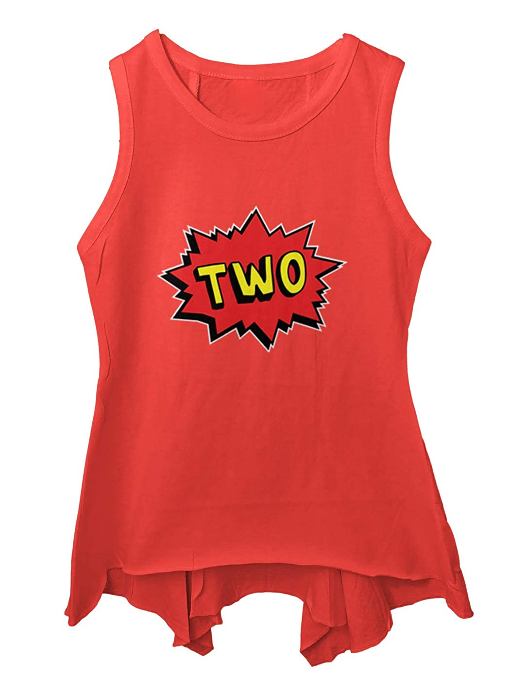 Two Year Old Birthday Comic Superhero Toddler//Youth Sleeveless Backswing