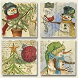 Wintry Snowmen Picture Perfect Post Card Christmas