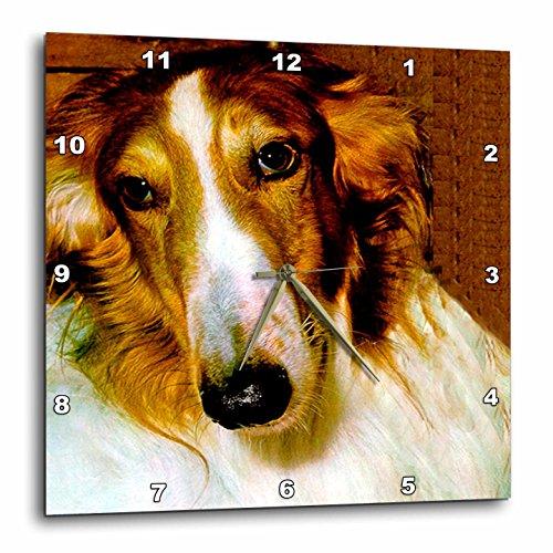 Borzoi Clock - Dogs Borzoi - Borzoi - 10x10 Wall Clock (dpp_522_1)