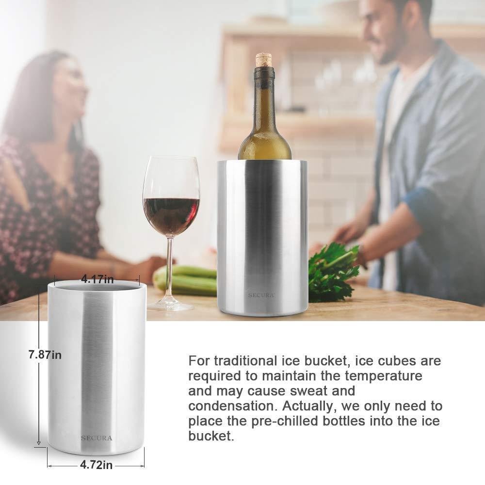 Secura SWO-BUCKET-4PC Wine Cooler Bucket Set of 4
