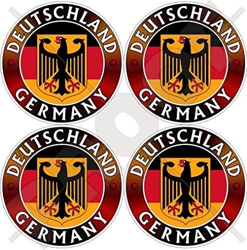 Deutschland Coat (GERMANY DEUTSCHLAND Flag-Coat of Arms German Eagle, Deutsch 50mm (2