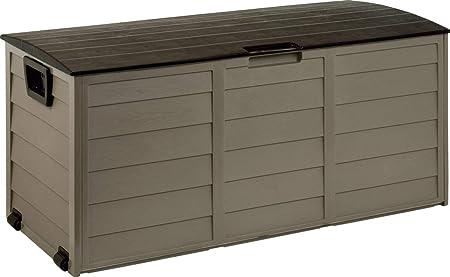 Baúl Baúl Caja Resina Plástico Banco de jardín interno externo: Amazon.es: Hogar