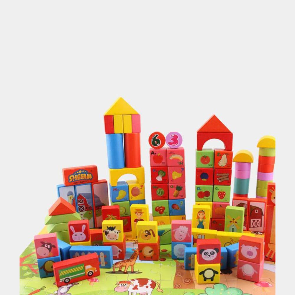 QXMEI Die Bausteine Der Kinder Kinder Kinder Spielen Aus Holz Alphanumerische Spielzeuge e987b1