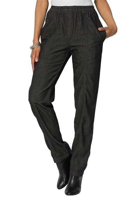 Roamans Women's Plus Size Kate Elastic Waist Jeans At Amazon ...