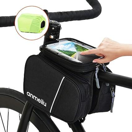 Lixada Bolsa de Cuadro para Bicicleta Bolsa de Tubo Superior con ...