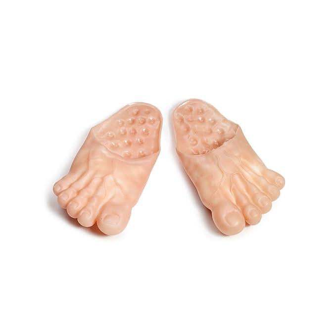 e62afb8bcda2c Amazon.com  Vinyl Funny Feet Slipper Adult Male  Shoes