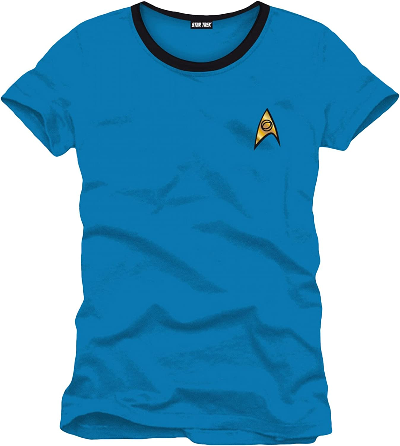 Star Trek – Camiseta de Mr. Spock de Uniforme – Azul: Amazon.es ...