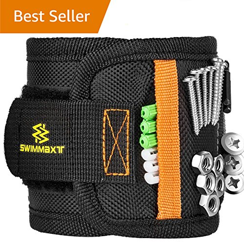Swimmaxt Magnetic Wristband with Strong Magnets for Holding