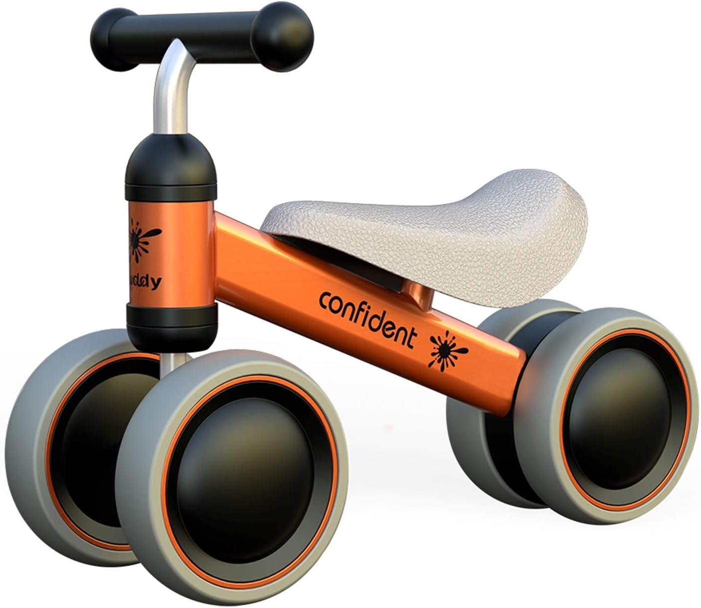 XIAPIA Bicicleta sin Pedales para Niños, Bicicleta Bebe 1 Año Bicicleta Equilibrio 1 Año Bicicleta Infantil sin Pedales de Forma Animal Lindo de Regalo Favorito del Niño (Naranja)