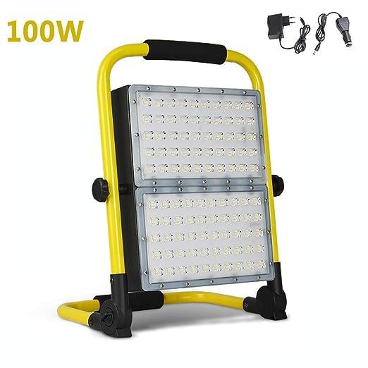 Wapipey Proyector de luz de trabajo portátil al aire libre de 100W ...