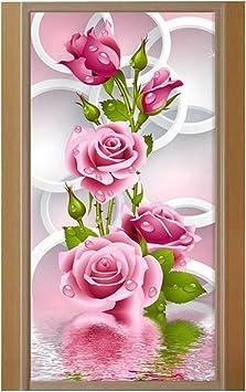 5D À faire soi-même Diamond peinture fleur Rose Broderie diamants Wall Stickers DECOR