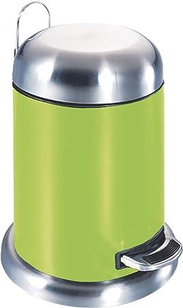 Unimet Papelera, Acero Inoxidable, Verde, 20 x 20 x 35 cm