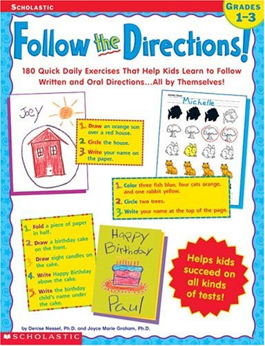 Follow the Directions! 180 Quick Daily Exercises That Help Kids ...