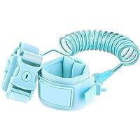 YASSUN - Muñequera para niños con Gancho de Seguridad y Correa elástica, Flexible, Apto para bebés y niños, 1 Paquete (Longitud 1,5 m), Color Azul