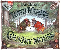 town mouse country mouse jan brett 9780698119864 books. Black Bedroom Furniture Sets. Home Design Ideas