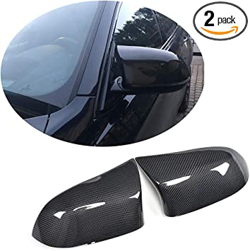 For BMW X3 X4 X5 X6 Side Wing Mirror Cover Caps Replacement Cabon Fiber Material