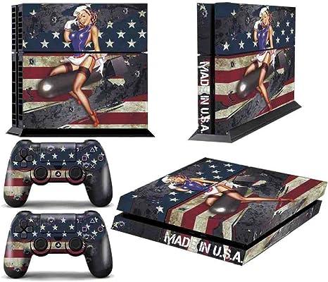 Juego de skins para PS4 y dos mandos, diseño de Battle Torn Stripes [PlayStation 4]: Amazon.es: Videojuegos