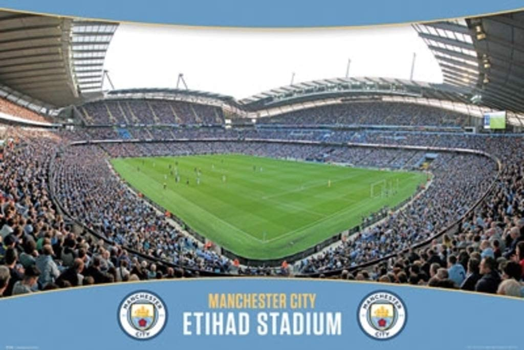 Manchester City Etihad Stadium Football Soccer Sports Cool Wall Decor Art Print Poster 24x36