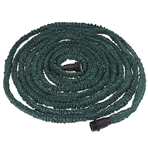 GBB 75ft Expandable Flexible Garden Water Hose with Spay Nozzle Head, High Class Fabric Wrapper, High Quality Double Layer Latex Hose, Antiwear, Ultraviolet-proof, Great for gardening, recreational vehicles, pools, workshops, boats, washing cars and the house.