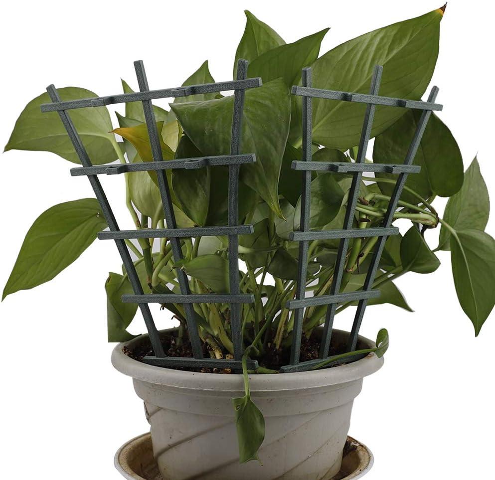 NMFIN 10Pcs Plastic Climbing Stakes Mini Superimposed Potted Plant Support Garden Trellises DIY Garden Plant Climbing Trellis for Potted Climbing Plant Vines Vegetables