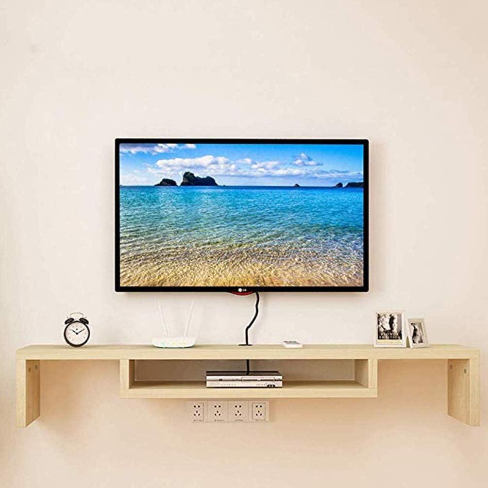 XGYUII Estantería con Forma de U Flotante Soporte de la TV Estante de la Consola de Montaje en Pared Mediateca WiFi Gabinete Set-Top Box Router Estante de la Pared mandos,A: Amazon.es: Hogar