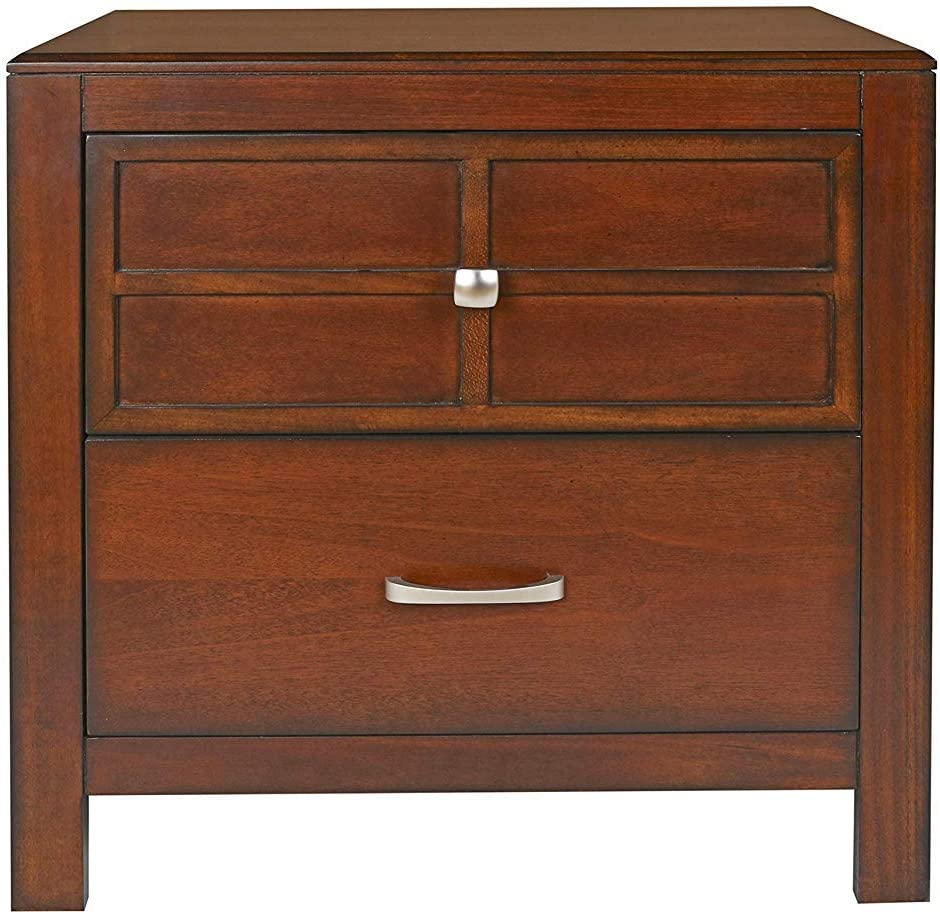New Classic Furniture Kensington Nightstand, Burnished Cherry