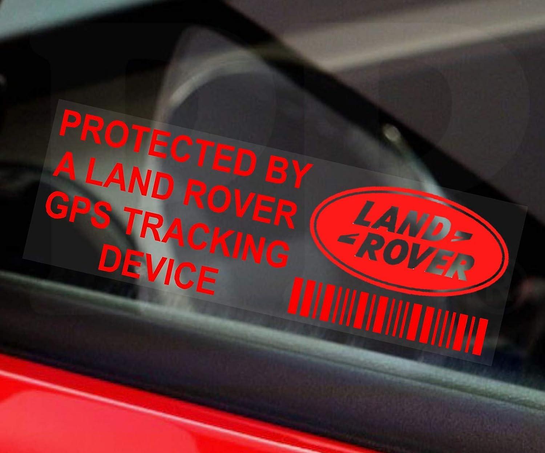 5 X Kfz Aufkleber Aufschrift Protected By A Pplandrovergpsred Gps Tracking Device Fensteraufkleber 87 Mm X 30 Mm Für Pkw Und Kleinbusse Rot 5 Stück Auto