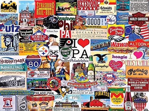 (White Mountain Puzzles I Love Pennsylvania - 1000 Piece Jigsaw Puzzle)