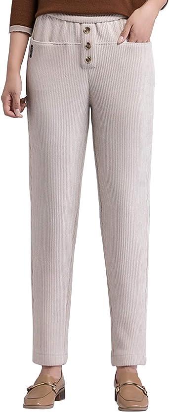 Amazon Com Gihuo Pantalones De Pana Para Mujer Estilo Vintage Clothing