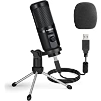 USB Podcast Microphone with Mic Gain MAONO Cardioid Condenser PC Computer Microphone for Recording, Gaming, Streaming…