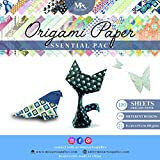 Origami Paper Set - 120 Sheets - Traditional Japanese Folding Papers including Floral, Animal Prints, Aztec, Geometric -Origami Flowers, Crane, Owl, Dragon, Animals -Origami papers for Kids and Adults