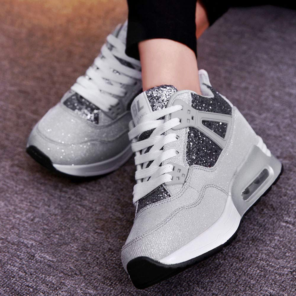 Londony /♥‿/♥ Clearance,Fashion Platform Shoes for Women,Womens Casual Lace-Up Height Increasing Sport Running Shoe