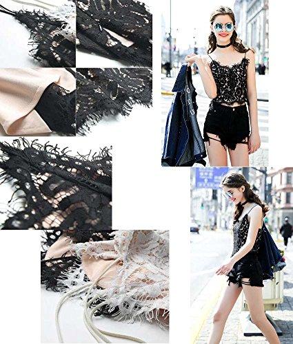 Breathable Cotton Women Summer Camisole Baselayer Vest Black Multicolor-R
