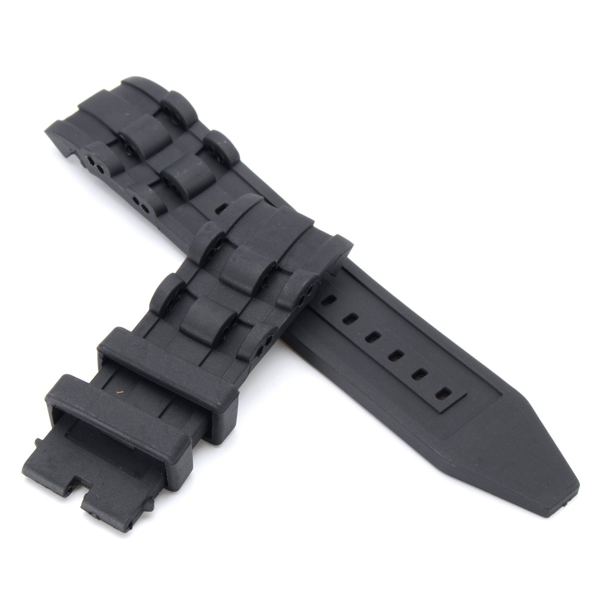 QOJA 26mm rubber black watch band strap for invicta pro diver 6977-6978-6981-6983